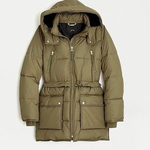 JCrew Chateau puffer jacket with PrimaLoft®